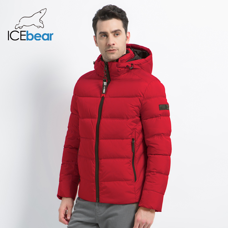 ICEbear 2019 New Winter Men's Jacket Fashion Men's Coat High Quality Male Top Hooded Man Clothing Brand Apparel MWD18605I