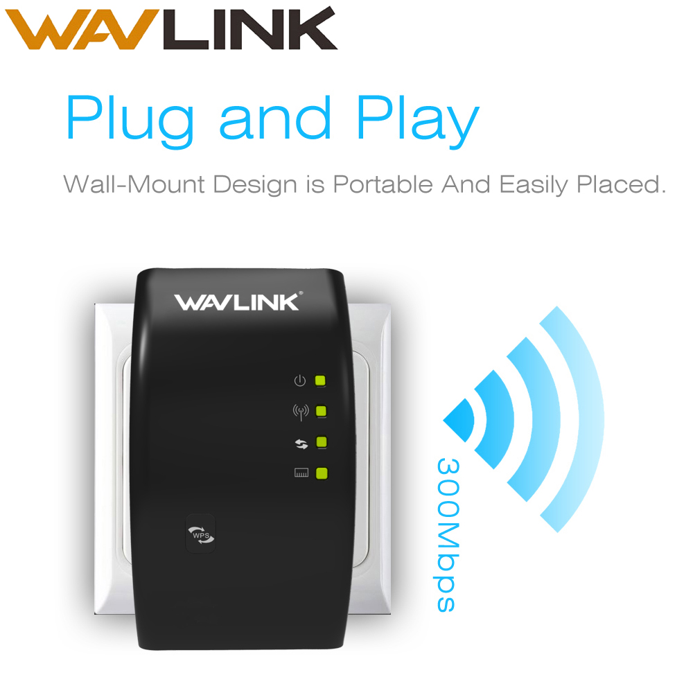 Wavlink Wi-Fi Repeater Extender-Wifi TRAVELS Amplifier-Booster Signal 300mbps Wireless