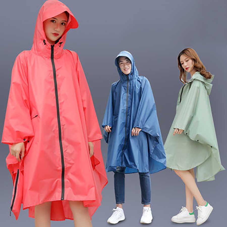 Luar Ruangan Perempuan Cover Poncho Jas Hujan Wanita Tahan Air Hujan Mantel Anak Rainwear Wiche Cape Hujan Gigi Memakai Kurtka Damska B50