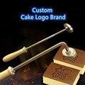 Individuelles Logo Kuchen Messing Stanzen Werkzeug High-temperatur Beständig Metall Brot Mould Marke Alphabet Buchstaben holz rindfleisch leder