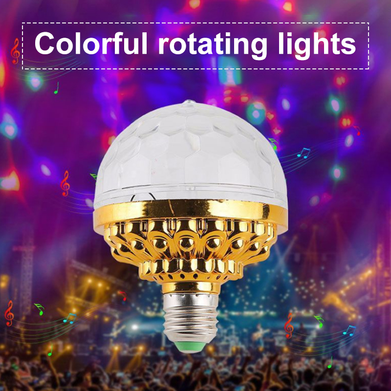 RGB Disco Light Effect LED Stage Laser Projector Light Colorful Rotating Crystal Globe Lamp Wedding Birthday Party DJ Lamp