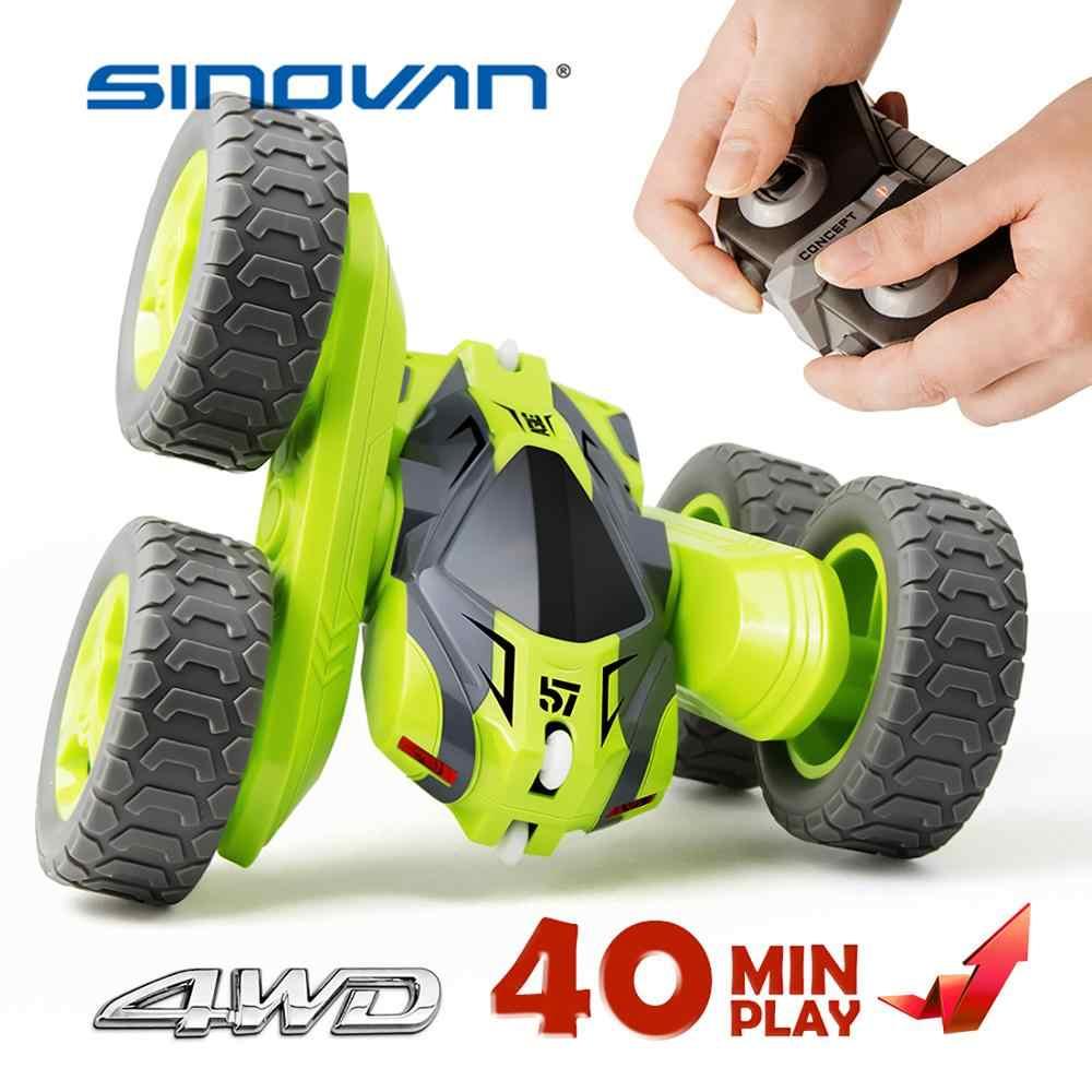 Carro de rolo de 2.4 graus, rc dublê 360g 4ch drift deformaçã graus rotação dupla face modelos de veículo flip remoto brinquedos de controle