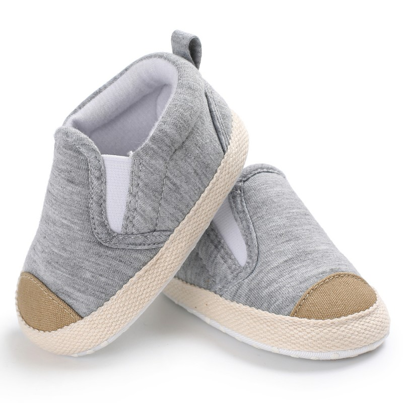 4 Style Newborn Baby Shoes Kids Boys Infant Toddler First Walkers Canvas Striped Soft Soled Babe Loafer Sneakers