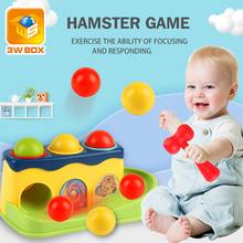 3WBOX Baby hammer hitting toys kids stack hand hammering ball box toy Early Learning Educational montessori Toys Piling Hand
