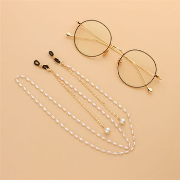 Fashion Mask Strap Holder Reading Glasses Chain for Women Sunglasses Cord Casual Pearl Beaded Eyeglass Eyewear Jewely