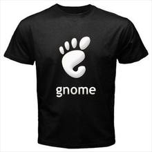 Gnome Logo Linux hommes t-shirt t-shirt S M L XL 2XL 3XL Normal à manches courtes coton t-shirts(China)