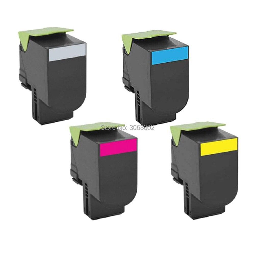 3K/2.3K Toner Cartridge Compatible For Lexmark CS317 CS317dn CS417 CS417dn CS517de CX317dn CX417de CX517de Ink (4-Pack)