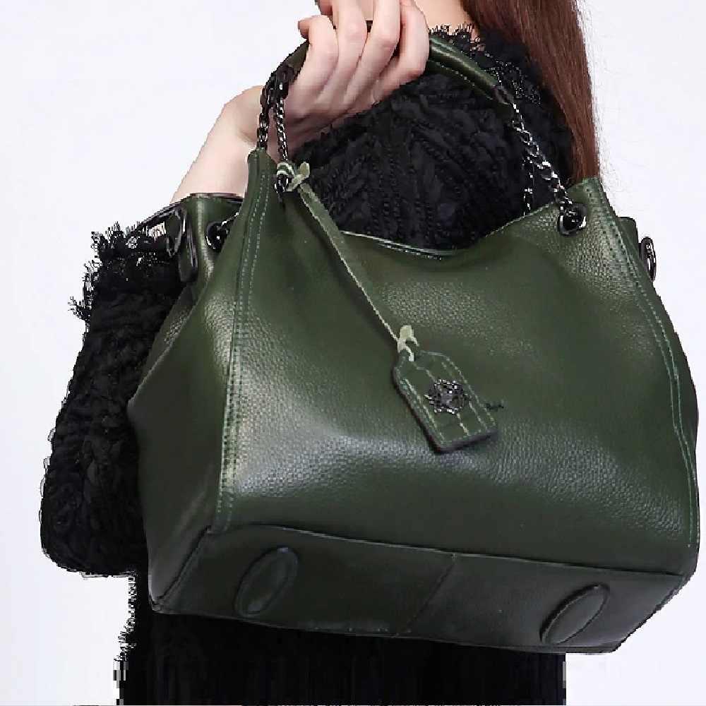 ¡Novedad de 2020! Bolsos ZOOLER de piel auténtica, bolsos de mano grandes para mujer, bolso de piel auténtica, bolso de hombro de alta calidad, negro, verde #8130