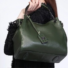 Women Handbags Large Tote Real-Skin-Leather Green Shoulder-Bag Black High-Quality ZOOLER