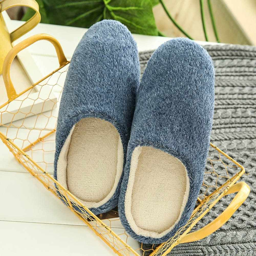 Women Winter Warm Ful Slippers Women Slippers Cotton Lovers Home Slippers Indoor Plush Size House Shoes Woman  Plush Slippers