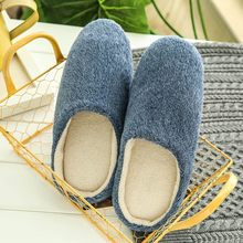Women Warm Shoes Home Plush Soft Slippers Indoors Anti-slip Winter Couples Floor Bedroom shoes woman Plus Size couple slippers(China)