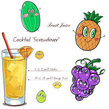 AZSG Liquor Cocktail Fruit Juice Clear Stamps For DIY Scrapbooking/Card Making/Album Decorative Silicone Stamp Crafts