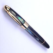 Freies Verschiffen Silber und Gold Deutschland Duke Luxus Brunnen Stift Hohe Qualität Gold Nib Tinte Stift Business Geschenk Stifte mit eine Geschenk Box