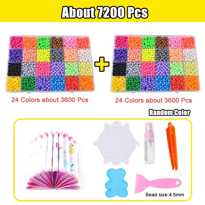 Refill Hama Beads Puzzle Aquabeads DIY Water Spray Beads Set Ball Games 3D Handmade Magic Toys For Girls Children 12