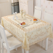 Waterproof Tablecloth Pvc Plastic Rectangular Disposable Household Europ Anti-Skid Thickened
