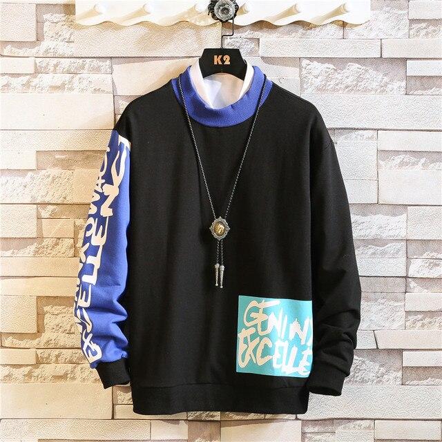 2020 nuevo 6 colores sudadera Hip Hop para hombre otoño carta impresa sudaderas con capucha de los hombres extraño Streetwear con capucha Casual de talla grande 3XL 3