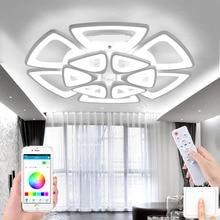 New led living room chandelier modern LED ceiling lamp home lighting bedroom support remote control APP hotel LED chandelier