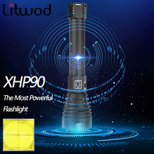 Usb Zoom Torch Flashlight Led New 2* 18650 Or 26650 Rechargeable Battery Shock Resistant,Hard Light,Self Defense Powerful
