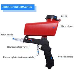 Image 3 - ポータブル重力サンドブラストスプレーガン空気圧セットdiyミニブラスト装置 90psiサンドブラスター調節可能なサンドブラスト機