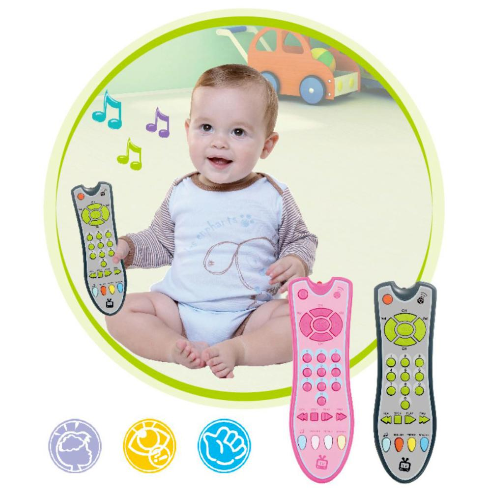 Baby Simulation TV Remote Control Shape Kids Educational Music English Learning Acknowledge Interactive Toy
