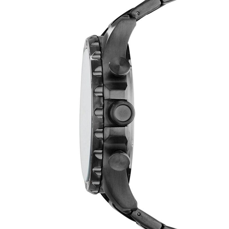 Fossil Nate Chronograph Rauch Edelstahl Uhr Schwarzes Zifferblatt Herren Uhren Top Brand Luxus Armbanduhr JR1478 - 3