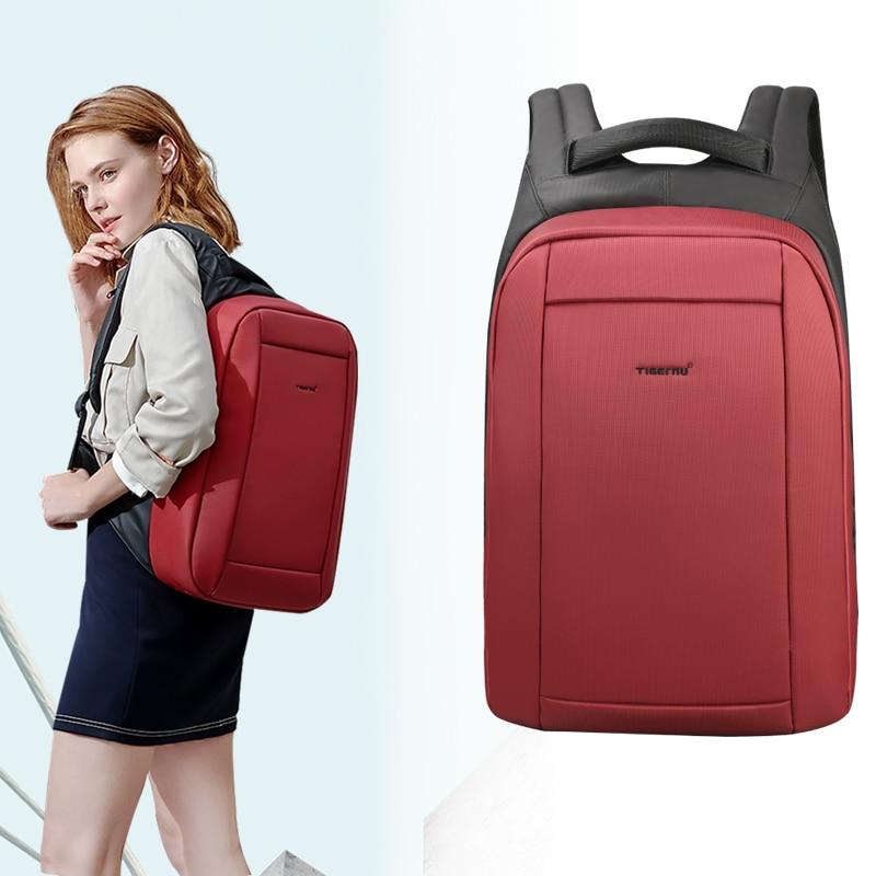 Tigernu Waterproof Anti Theft Female Mochila 15.6inch Laptop Backpack USB Backpacks School Bags Backpack For Women Travel Bag