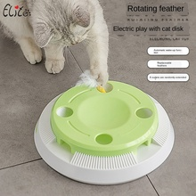 New electric cat toy funny cat tray puzzle pet toy fun play board cross-border cat toy pet toy Feather Toys  cat jenga game magideal horse toy game ball with apple scent pet joy fun horse stable and yard toy