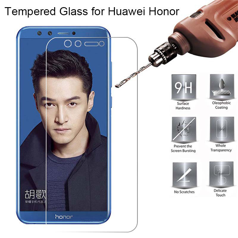Screen Protector Glass for Huawei Honor 7 V8 8 Pro 7S Tempered Glass for Honor 10 Lite V9 Play View 10 Glass on Honor 9 Lite