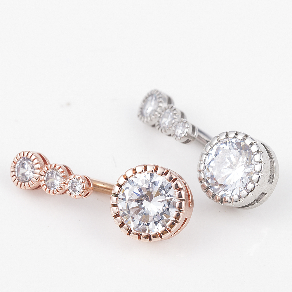 H7dc0876c135d4096b14e917d582f019bR Sexy Dangling Navel Belly Button Rings Belly Piercing Crystal Surgical Steel
