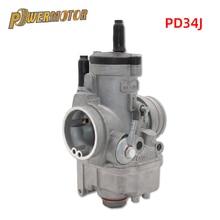 цена на PZ34J Motorcycle 34mm Carburetor Carb For 177mm Zongshen 250cc Water Cooled 4 valve Engine kayo NC250 Pit Dirt Bike ATV Quad
