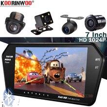 Koorinwoo комплект парковки 7 дюймов автомобильное зеркало с монитором TF USB слот Bluetooth MP5 FM автомобильная камера заднего вида видео вход помощь