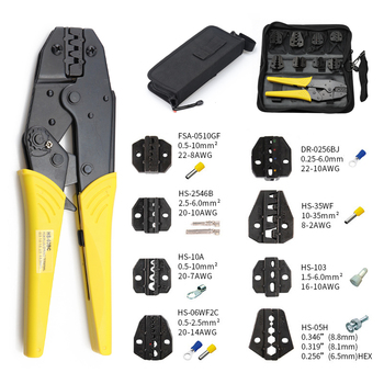 Crimping pliers HS-03BC 8 jaw for plug /tube/insulation/no insulation/crimping cap/coaxial cable terminals kit 230mm clamp tools crimping pliers wire stripper multifunction tools hs 02h1 02h2 kit 10 jaw for insulation non insulation tube pulg pliers tools
