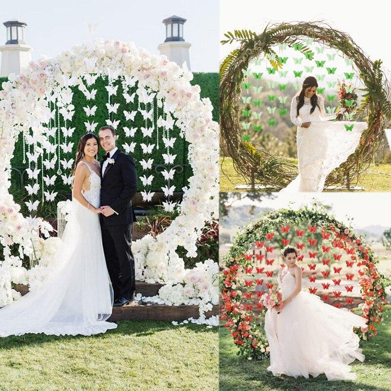 2.7M Wedding 3D Butterfly Tassel Garland Decor DIY Paper Craft Wedding Arch Decorations Girls Bedroom Butterfly Tassel Pendant