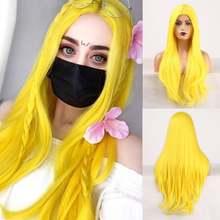 Длинные волосы rongduoyi термостойкий синтетический парик из