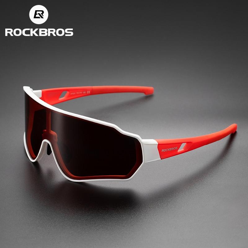 RockBros Polarized Sunglasses Goggles Outdoor Sports Photochromatic Glasses