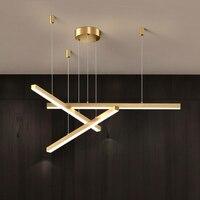 Modern pendant light dining room lighting Nordic restaurant long hanging lights office fixtures bar illumination