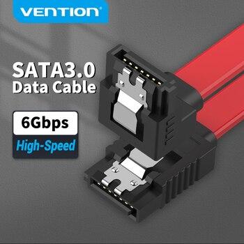 Tions Sata Kabel 3,0 für SSD HDD Festplatte Sata III Gerade nach Rechts Winkel für ASUS Gigabyte Brenner daten Kabel SATA