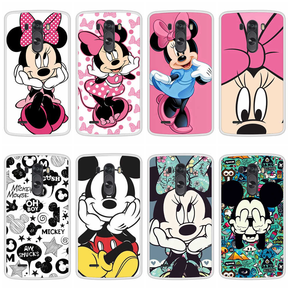 Case for LG G3 D855 Soft Silicone TPU Mickey Minnie Patterned Paint Phone Cover Coque for LGG3 Case