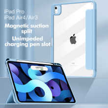 2020 iPad Air4 10.9 Silicone Magnetic Split Protective Cover 2018 iPad 11 inch Tri-fold Protective Case