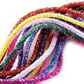 1 ярд 6 мм Блестящие Блестки Стразы, мягкая трубка, шнур, веревка для одежды, обуви, шляпы, ювелирные изделия, браслет, вечерние украшения