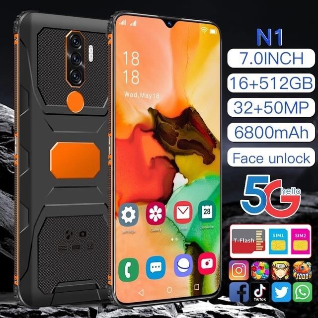 "RUGGED SMARTPHONE N1 7.0"" SHOCKPROOF ANDRIOD11 WATERPROOF QUALCOMM 888 16G 512GB DUAL SIM 6800MAH MULTI-LANGUAGE 5"
