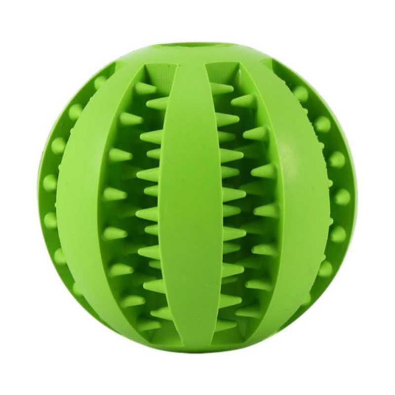 Pies elastyczna gumowa piłka zabawki interaktywne kule gumowe zwierzęta pies kot szczeniak elastyczność piłka gryzak dla psa czyszczenie zębów zabawki #8