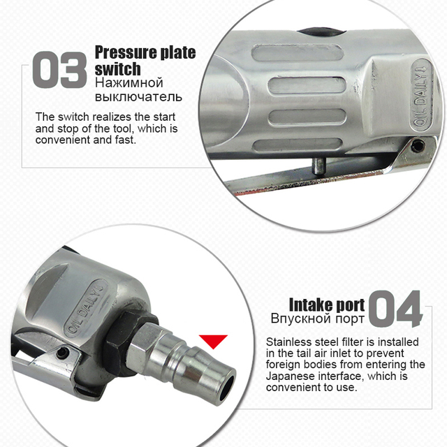 Clé pneumatique réparation pneumatique de clé à cliquet forte de qualité industrielle clé à cliquet haute Torsion petit pistolet à vent clé à Angle droit