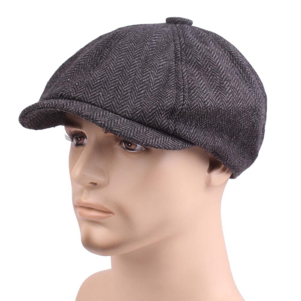 Outdoor Adjustable Twill Weaving Painter Newsboy Adults Washable Beret Lightweight Portable Men Cap Octagonal Cotton Blend