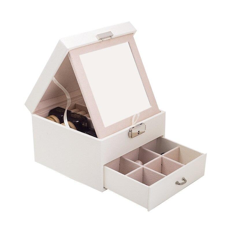 caixas de joias de luxo com grande espaco organizador para anel e colar veludo joias titular