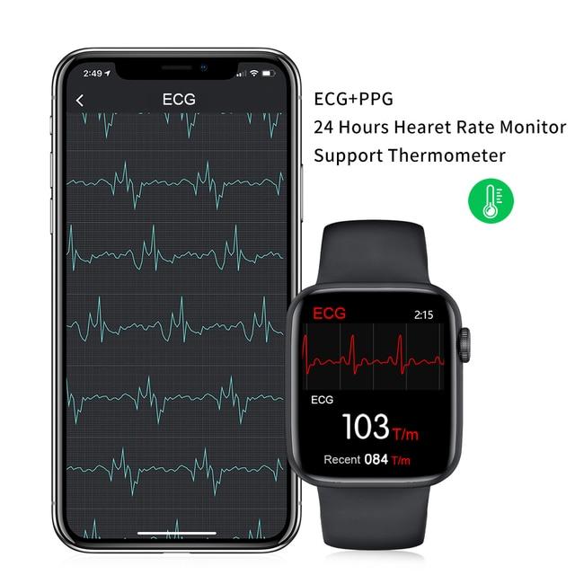 Zurexa W26 Smart Watch Men Women Heart Rate Monitor Blood Pressure Smartwatch IP68 Thermometer ECG Smart Watches Bluetooth Call 3