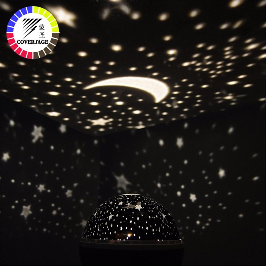 Coversage Rotante Luce di Notte Del Proiettore di Spin Star ry Cielo Star Master Capretti Dei Bambini Del Bambino di Sonno Romantico Led USB Della Lampada di Proiezione
