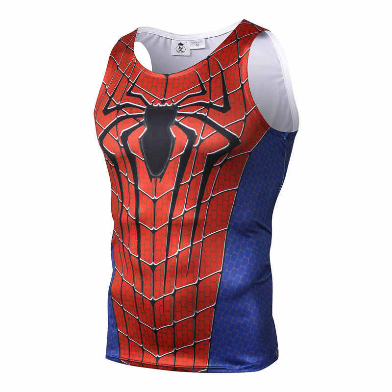 Marvel Superheld Spider-man Vesten Hulk Iron Man Captain America Rhino Black Panther Mannen Fitness Bodybuilding Tank Tops Singlets