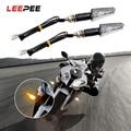 LEEPEE 2 шт./компл. янтарные индикаторные лампы универсальные мотоциклетные указатели поворота аксессуары для мотоциклов