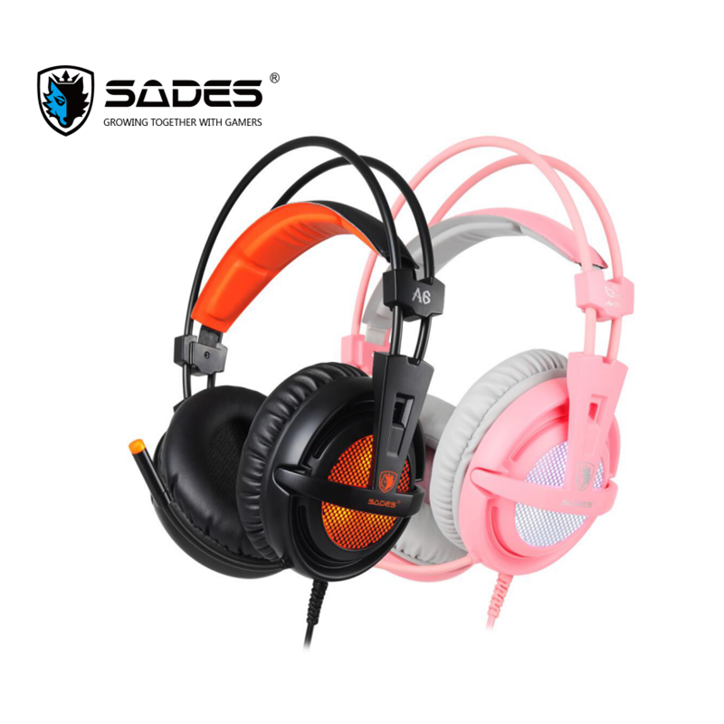 Sades A6 Usb Gaming Headset Professional Over Ear Headphones 7 1 Surround Sound Wired Mic Computer Game Headset Earphones Headphone Headset Aliexpress